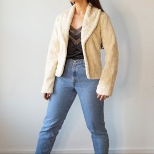 Vintage Rabbit Fur Jacket Coat